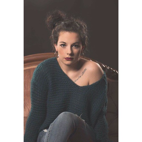 Lydia is one photogenic young lady. She sure looks grown up in this shot. #brunette #beauty #gorgeous #stunning #fabulous #awesomeness #nakedshoulder #sweater #nikon #d800 #studio