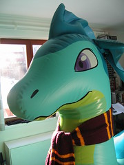 PP Nessie about time (Arambajk) Tags: sea pool toy dragon inflatable float nessie drak hraka puffypaws lochneska nafukovac