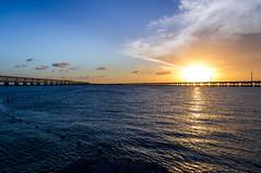 Sunset, Bahia Honda, Florida (Vincent Lammin) Tags: statepark bridge sunset sea usa beach water keys us florida rail eastcoast bahiahonda tatsunis bigpinekey