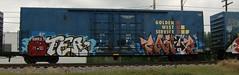 07-31-10 (10) (This Guy...) Tags: road railroad train graffiti aqua force box graf rail rr meat teen hunger traincar boxcar meatwad graff wad aquateenhungerforce beks 2010 payer oter d2f