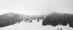 Last effort of winter at Lengrieser Htte - panorama view to Seekarkreuz (Bernhard_Thum) Tags: blackandwhite alps leicam planar502zm elitephotography landscapesdreams capturenature planart250 bavarianpreaalps