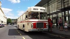 Preserved Red & White Bristol RE OAX9F (RC698) in Bath Bus Station, 11/08/2013 (Scatmancraig1974) Tags: red white bus station bristol coach bath schofield rally engine deck single craig works re preserved eastern leyland ecw oax brislington 9f relh relh6l oax9f scatmancraig rc698