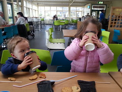 The kids are tired. Give them coffee. (MagMaster) Tags: family england coffee children zoo beds parenting whipsnade zsl