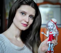 Doll selfie (lucylacri) Tags: abbey monster high doll ooak custom mh selfie repaint bominable