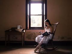 Sarah (vincedelapena) Tags: light ballet austen rose sarah reading chair ballerina sitting natural jane dancer mansion rocking