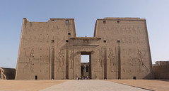 Main Entrance - Temple of Horus - Edfu (BlueVoter - thanks for 1.3M views) Tags: temple egypt horus hathor edfu