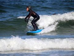 A young surfer catches a wave (apardavila) Tags: surfing surfers jerseyshore atlanticocean manasquan manasquanbeach