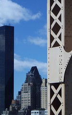Grand Day: Riveting NYC by Car (catchesthelight) Tags: building rivets industrial manhattan bluesky views queensborobridge rooseveltisland 59thstbridge tudorcity newyorkcityny springvisit travelbycar edkochbridge bridgecloseup april2016