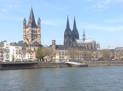 Cologne Cathedral (Kölner Dom), Great St.Martin Church, River Rhine (Rhein)