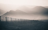 (Nadine Swart) Tags: road blackandwhite holiday lines fence landscape southafrica pattern quiet farm roadtrip repetition boundary simple karoo calitzdorp nadineswart