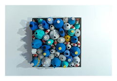 bottle composition 1963 (M00k) Tags: blue museum nijmegen bottles plastic zero 1963 valkhof janhendrikse bottlecomposition
