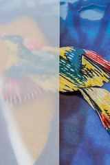 Yellow bird (Mónica Leitão Mota) Tags: bird yellow mixedmedia fiberart