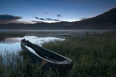 ~ Scattered ~ (Tan Andy (Sorry if I did not reply)) Tags: blue bali lake water sunrise boat rustic calm tamblingan