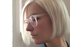 kate wirth platinum hair with ace & tate glasses (Kate Wirth) Tags: hair platinum