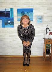 Long dress (Trixy Deans) Tags: cute sexy classic tv cd crossdressing tgirl tranny transvestite corset transgendered crossdresser crossdress sexylegs transsexual classy shemale trixy cocktaildress sexyblonde shemales xdresser transvesite sexyheels sexytransvestite