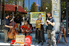 Carolina Catskins (thahawk) Tags: street nc asheville northcarolina buskers dobro washboard entertainers bassfiddle thahawk carolinacatskins