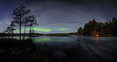 Aurora over moonlit Verholino lake (Mike Reva) Tags: sky snow nature night stars astro andromeda astrophotography aurora nights astronomy nightsky astrophoto stargazing cassiopea nghtsky