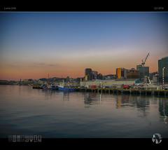 Wellington Sunrise (tomraven) Tags: morning newzealand skyline sunrise lumix dock wellington gx8 tomraven aravenimage q22016