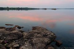 pilgrim.2011.100.0215 (pilgrim.ru) Tags: pink lake water beautiful stone night clouds finland islands space silence midnightsun saima whitenight saimaa spaciousness