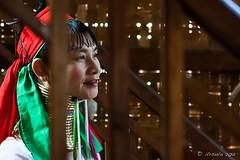 Long Woman through the Stairs 5464 (Ursula in Aus - Away) Tags: portrait burma karen myanmar inlelake hilltribes hilltribe environmentalportrait karlgroblphototour