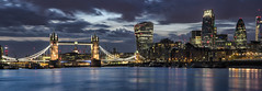 London Skyline | London | UK (darkcloud154) Tags: city longexposure nightphotography bridge blue urban london tower skyline architecture towerbridge reflections twilight nikon cityscape april bermondsey bluehour thegherkin urbanscape walkietalkie cheesegrater d810