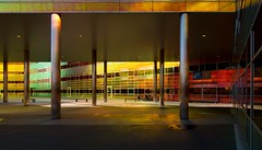 _DSC2246 (durr-architect) Tags: light sun colour reflection netherlands glass architecture modern facade offices almere dfense berkel unstudio