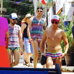 IMG_0878 (danimaniacs) Tags: shirtless man sexy guy hat mexico hunk cap tanktop puertovallarta trunks speedo swimsuit stud lycra