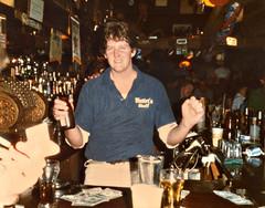 Hutley's. August 1983. Dawg!! (BruceLorenz) Tags: street new york ny st bar island pub long main tavern 1984 eighties 1980s 501 islip theeighties hutleys