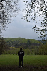 Maybe It's somewhere. (FOTO.Michaela) Tags: life trees boy people green boyfriend nature standing forest walking person nikon republic czech live april sometimes somewhere 2016 hukvaldy d5300