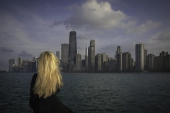 Windy City Chicago (ksmpics) Tags: city portrait chicago water skyline clouds self cityscape kspics