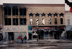 Downtown Portage Fire, Jan 4, 1994, Storefronts