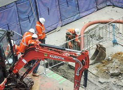 CBD & South East Light Rail - Update 3 January 2016 - Activity at  Cnr George and King  Streets, Sydmey (john cowper) Tags: construction sydney equipment newsouthwales activity georgestreet sydneylightrail transportfornsw cselr accionia