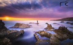 The Land of Dragons .... (EcOnAnDrE) Tags: longexposure sunset sea sky seascape beach nature sunrise landscape islands landscapes ancient moody secret dramatic dragons explore serenity legends land stoned burningsky dreamland seaview dreamscape middleearth naturephotography skytrails rockislands searocks movingclouds landscapephotography ndfilters ultrawideangle seacaves gnd longexposurephotography ancientgods stoneddragons seascapephotography nikond7100 econandre cypruslandscapes econandrephotography thelandofdragons stonesdragons