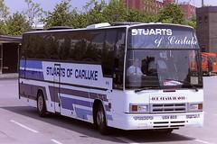 STUARTS OF CARLUKE USV803 (bobbyblack51) Tags: bus station volvo glasgow 1996 paramount 3500 stuarts carluke plaxton b10m of usv803
