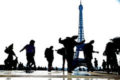 Vacation in Paris (oberlep27) Tags: paris france silhouette dance eiffeltower highkey trocoderosquare