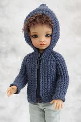 Commission work ~ (Maram Banu) Tags: blue doll handmade bjd cardigan bid yosd iplehouse bordy fairystyle marambanu