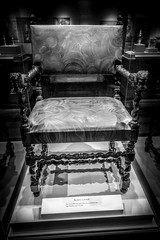 Louis XIV Agate Chair (kryptonic83) Tags: bw white black art agate museum carved chair texas natural houston science carving boulder carve brazilian louisxiv hmns