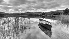 Grey Day (TrossachsTog) Tags: landscape mono scotland trossachs lochard
