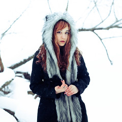 Kate R (laito98) Tags: winter red portrait snow cold cute nature beautiful beauty river wolf russia moscow wolfy lightroom redhaired