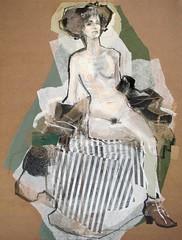 Akt mit Streifen // by Maria Remedios Kleinschmidt (mike catalonian) Tags: portrait collage female germany fulllength mariaremedioskleinschmidt
