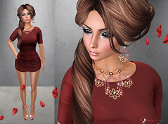 Dora (honey.aselya) Tags: red girl secondlife brunette jewerly