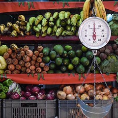 Day 278. Few supermarkets, but lots of markets. Another day and a half in Honduras, should be getting up to about 110 today, which means a nice long siesta. #theworldwalk #travel #honduras