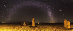 The Milky Way over the Pinnacles, Western Australia (inefekt69) Tags: longexposure nightphotography panorama night clouds rural stars landscape nikon desert space wide australia tokina galaxy astrophotography multiple astronomy dslr 11mm stitched westernaustralia pinnacles milkyway magellanic ptgui nambungnationalpark nambung thepinnacles smallmagellaniccloud multipleshots largemagellaniccloud magellanicclouds 1116mm d5100