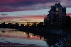 DSC_6470.jpg (Cameron Knowlton) Tags: ocean sunset seascape canada reflection water reflections landscape harbor landscapes nikon long exposure bc seascapes harbour dusk sunsets victoria inner innerharbor innerharbour d610