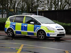 West Midlands Police Ford S MAX Armed Reponse Vehicle (FAF01) DN59 TKO, Birmingham Airport (BHX). (Vinnyman1) Tags: uk england rescue max west ford car station demo fire airport birmingham support traffic arms britain united great police railway kingdom s right international gb vehicle service roads emergency far services wmp midlands response tko unit firearms armed 999 rpu policing arv bhx funded stechford dn59 faf01 pegida
