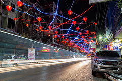 Tron: Legacy (Prasith_T) Tags: street city light white cinema car night landscape thailand outdoor scene tron moire goodluck awesom longexoposure chinesenewyear2016