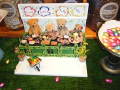 Sweetshop window in The Cotswolds (rossendale2016) Tags: flowers original plant cute window nature shop walking toy fantastic model teddy display chocolate bears small cotswolds fudge lolly pot attractive eggs sweets stick plates neat minty lovely dolly lollies sugary treacle wheelbarrow confectionery clever confection mints plantpot sweetshop appealing toffees