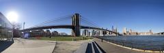 Sunny bridge (Paco CT) Tags: bridge panorama usa sun ny newyork sol puente day unitedstatesofamerica engineering 2006 panoramica brooklynbridge eastriver builtstructure pacoct