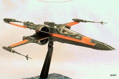 IMG_2159 (harrison-green) Tags: film movie star model fighter force space wing x xwing spaceship wars poe 172 bandai t70 awakens dameron incom