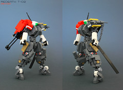 Redeath T-02 (Devid VII) Tags: red trooper detail soldier war lego military details troopers crew wars vii mecha mech moc drone 2016 devid redeath t02 foitsop devidvii droneuary
